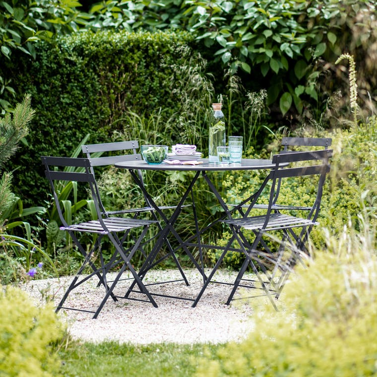 Garden Trading Large Rive Droite Bistro Set in Carbon