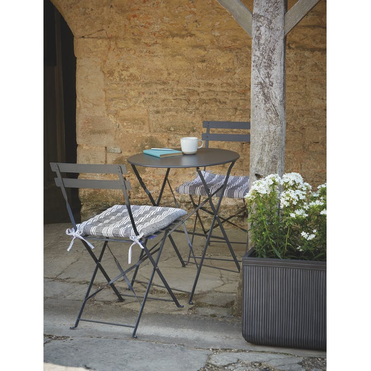 Garden Trading Rive Droite Bistro Set, Small in Carbon - Steel