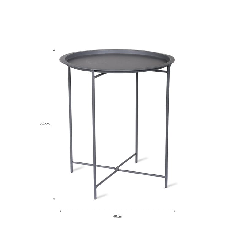 Rive Droite Outdoor Bistro Tray Table in Grey, Blue or Yellow | Garden Trading