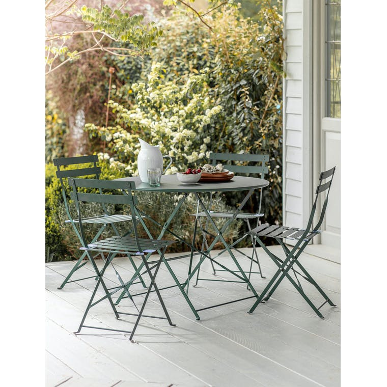 Rive Droite Bistro Set, Large in Forest Green by Garden Trading