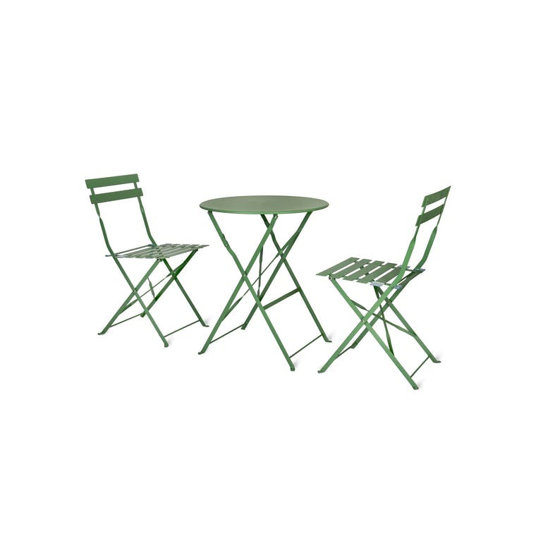 Small Folding Rive Droite Bistro Set in Cream, Green, Blue or Yellow | Garden Trading
