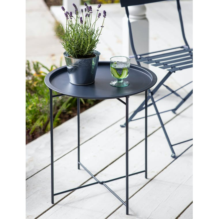 Rive Droite Bistro Tray Table in Forest Green by Garden Trading