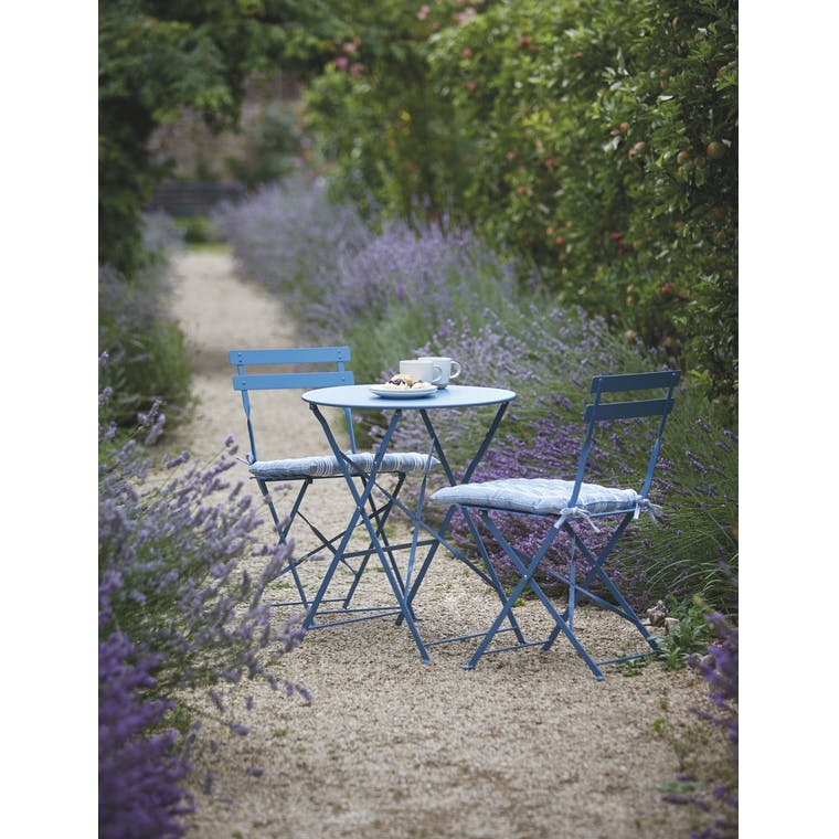 Garden Trading Rive Droite Bistro Set, Small in Lulworth Blue