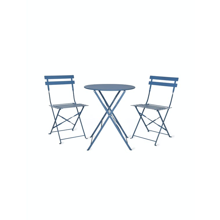 Steel Bistro Set in Green, Neutral, Black or Blue  | Garden Trading
