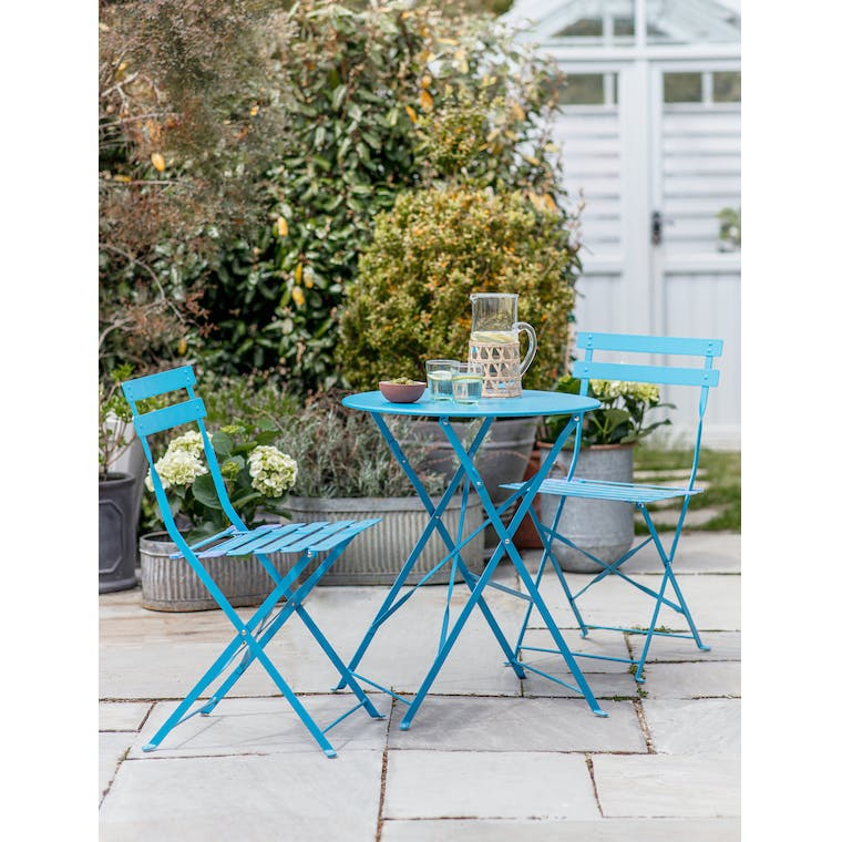 Rive Droite Bistro Set, Small in Lagoon Blue by Garden Trading