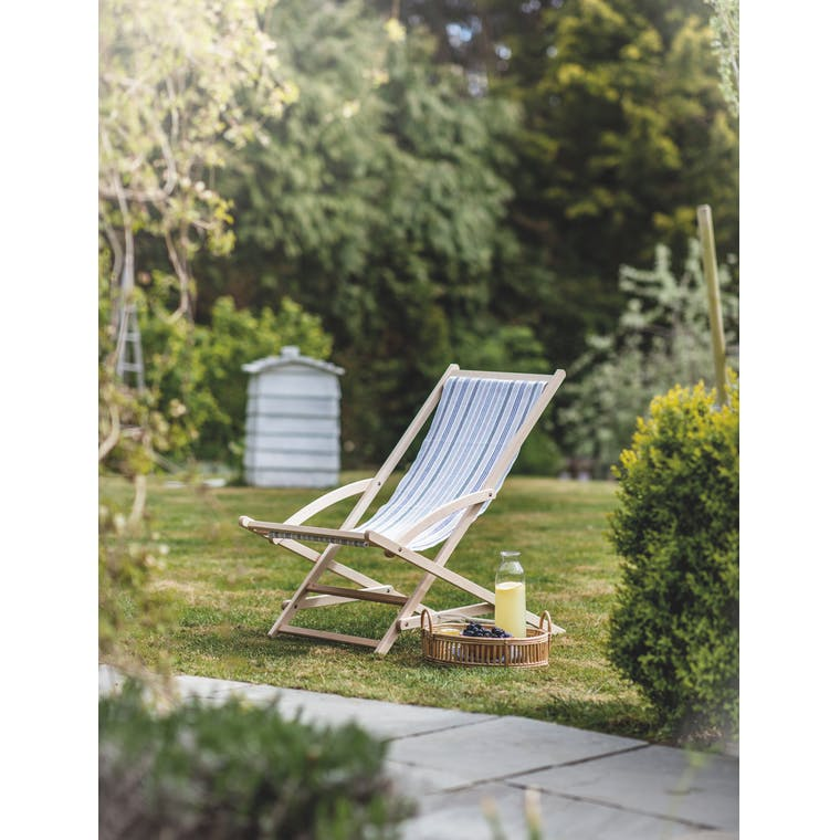 Striped Rocking Deck Chair in Orchard Stripe by Garden Trading