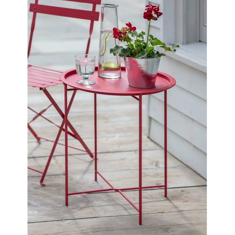 Rive Droite Bistro Tray Table in Pomegranate by Garden Trading