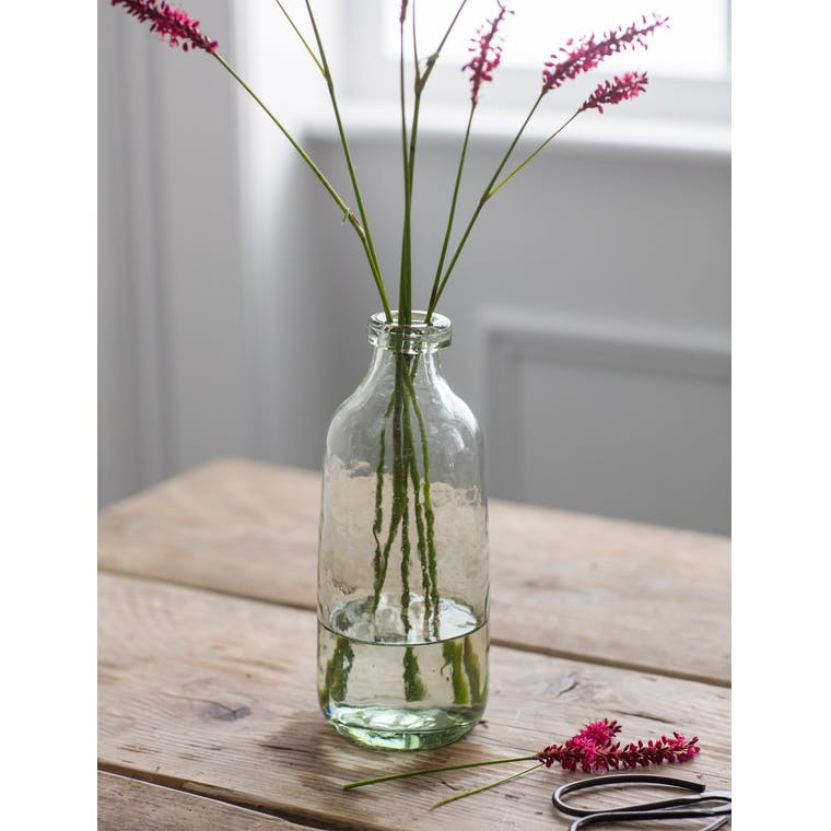 Recycled Glass Bottle Vase in Small or Medium  | Garden Trading