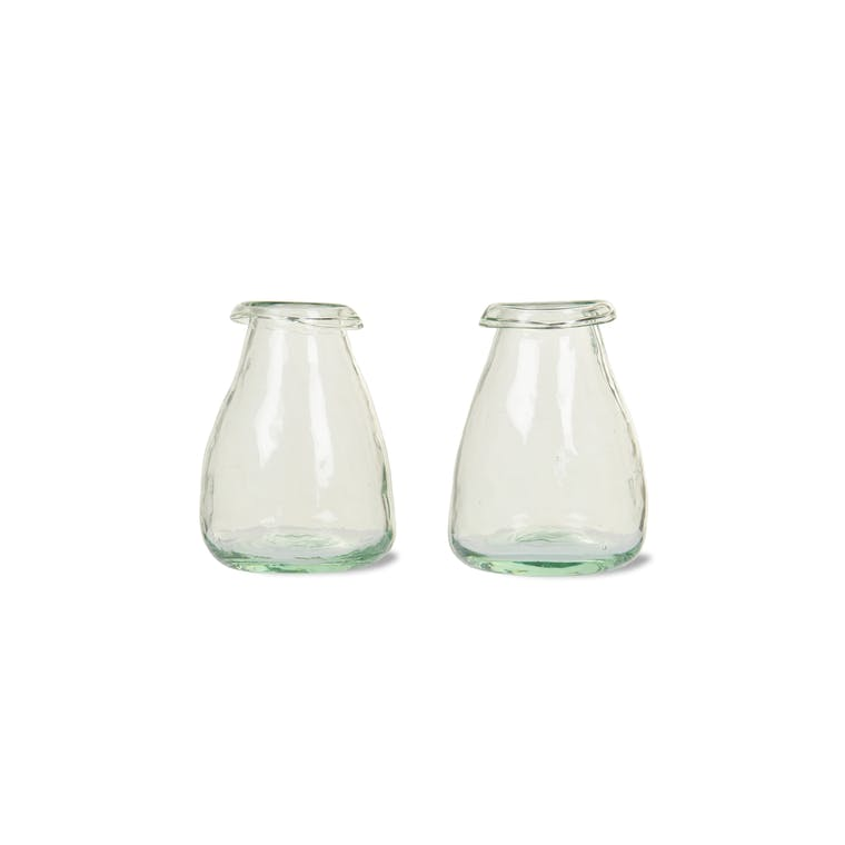 Recycled Glass Set of 2 Bud Vases  | Garden Trading