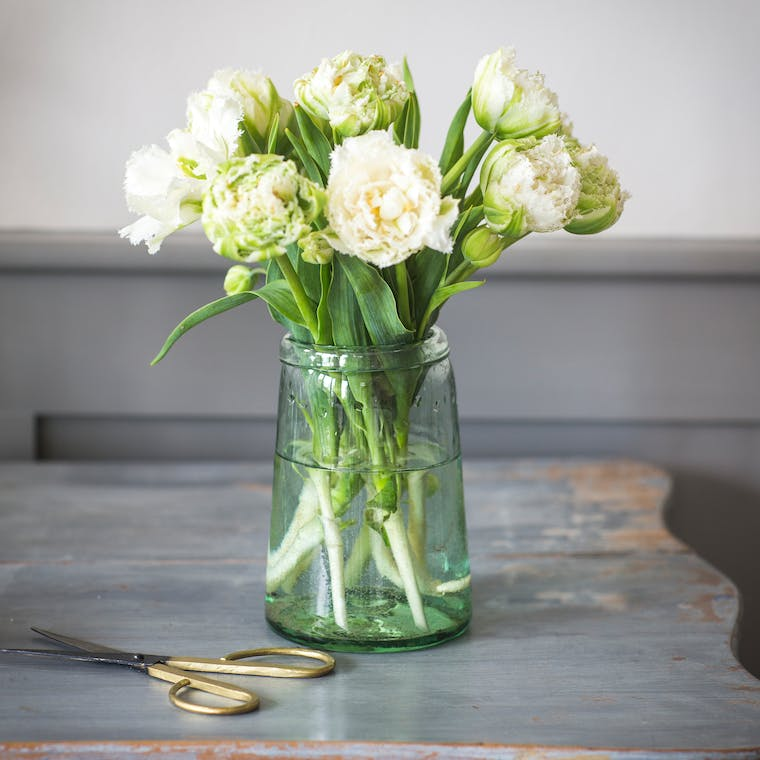 Recycled Glass Tulip Vase  | Garden Trading