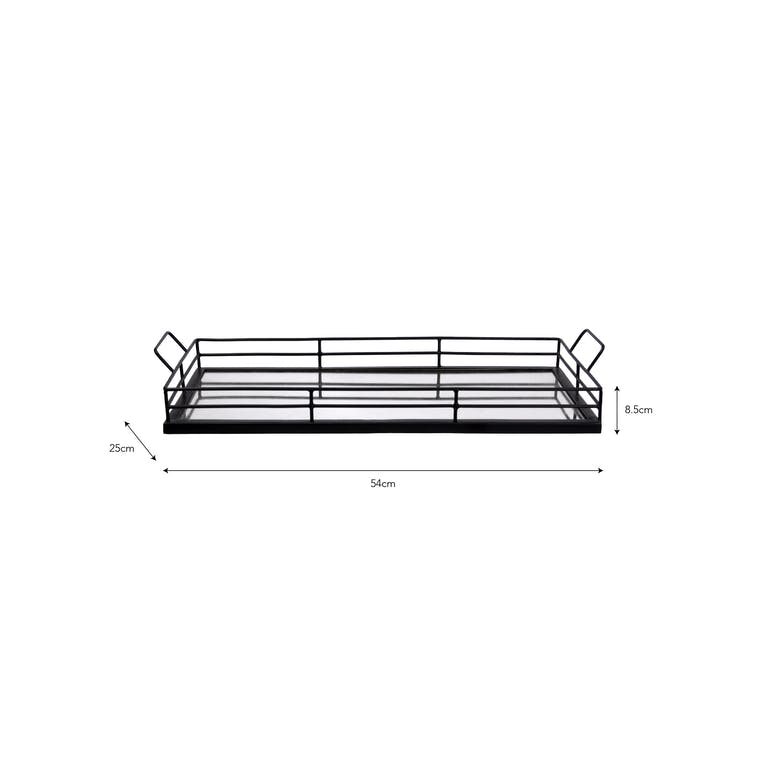 Mirror Tray - Black Metal in Small or Large - Curzon | Garden Trading