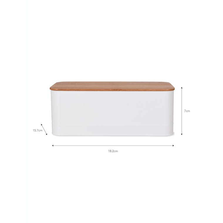 Portland Storage Box in White | Garden Trading