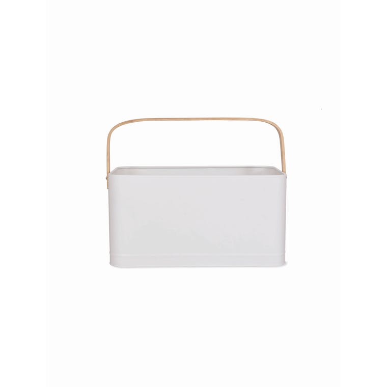 Portland Storage Bucket in White | Garden Trading