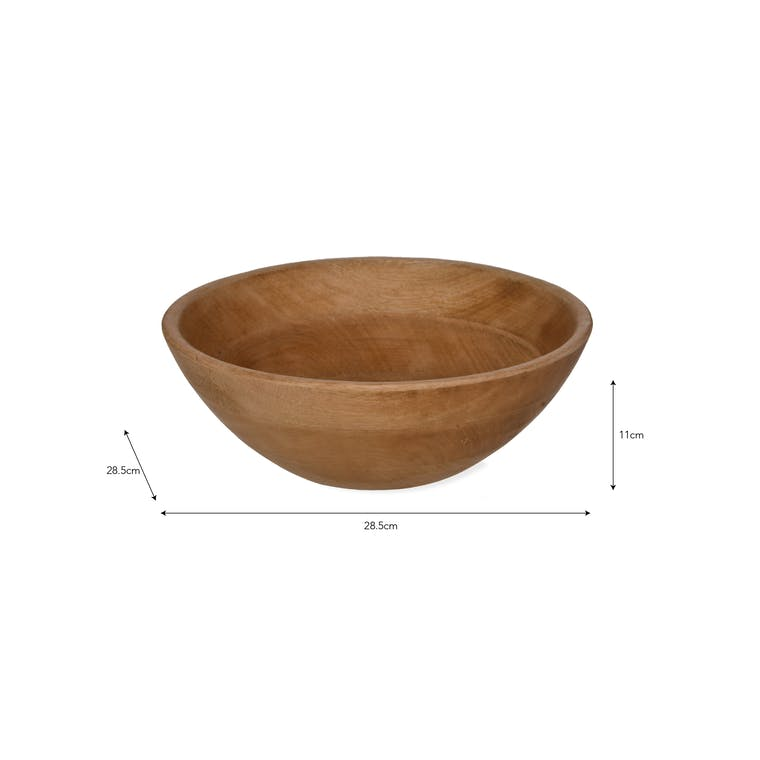 Wooden Midford Serving Bowl  in Medium or Large | Garden Trading