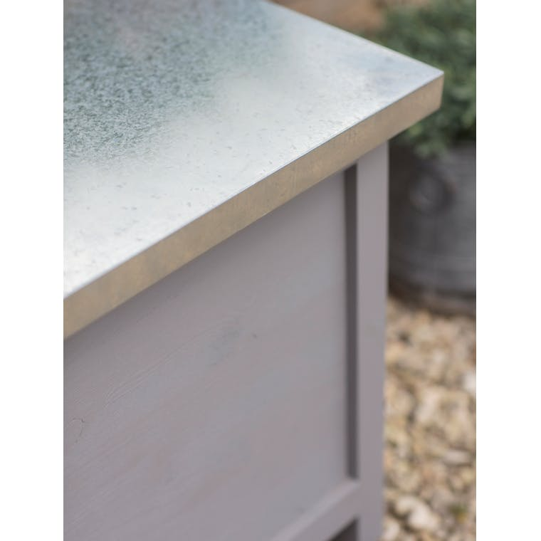 Wooden Northcote Outdoor Storage Box in Grey in Large  | Garden Trading