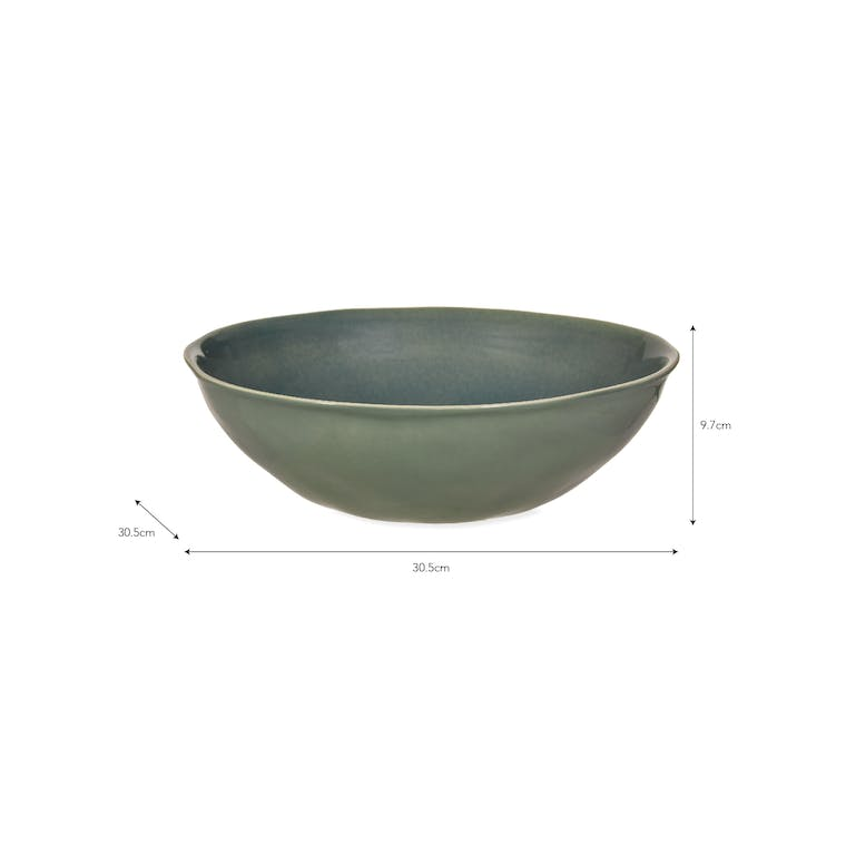 Ceramic Winderton Serving Bowl in Green | Garden Trading