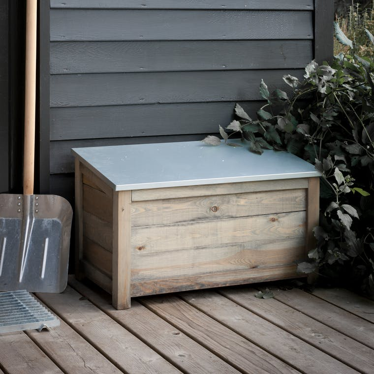 Wooden Aldsworth Outdoor Storage Box in Small or Large  | Garden Trading