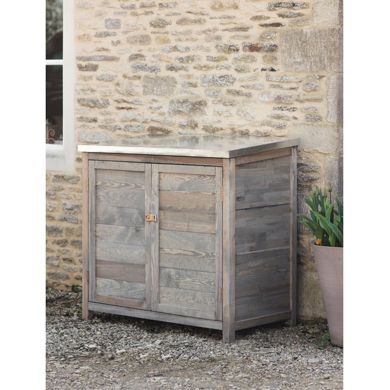 Wooden Tall Aldsworth Outdoor Storage Box | Garden Trading