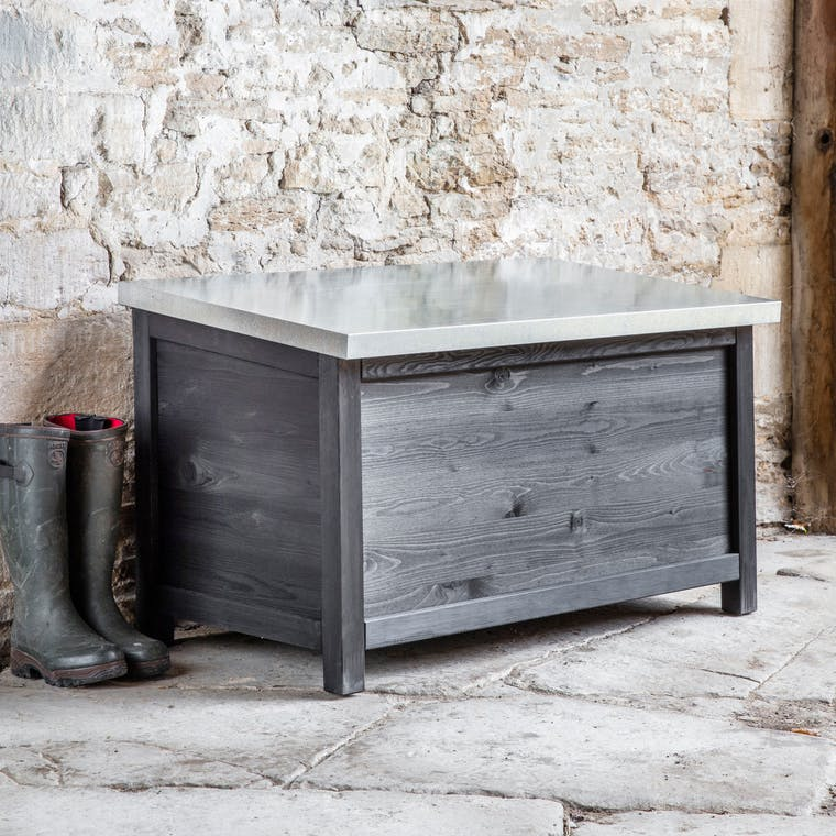 Wooden Moreton Outdoor Storage Box in Small or Large | Garden Trading