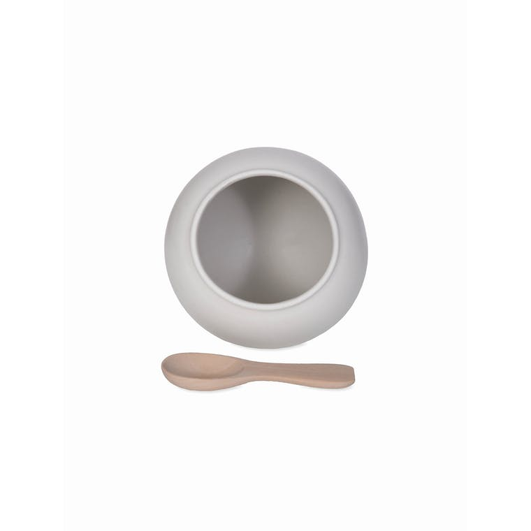 Ceramic Salt Cellar in White | Garden Trading