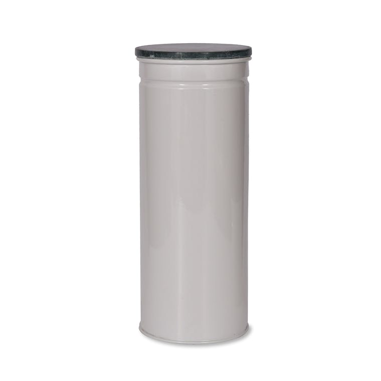 Marble and Steel Brompton Tall Canister in Black or White   Garden Trading
