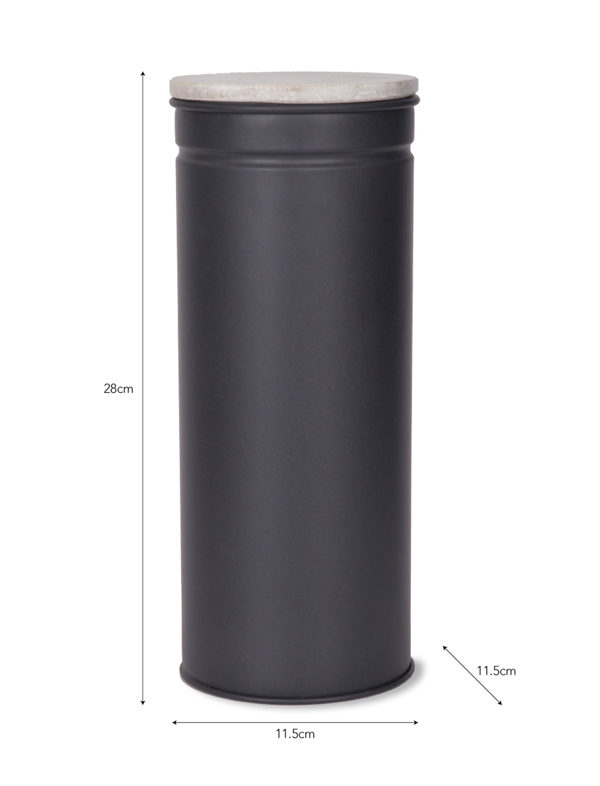 Marble and Steel Brompton Spaghetti Canister in Black or White | Garden Trading