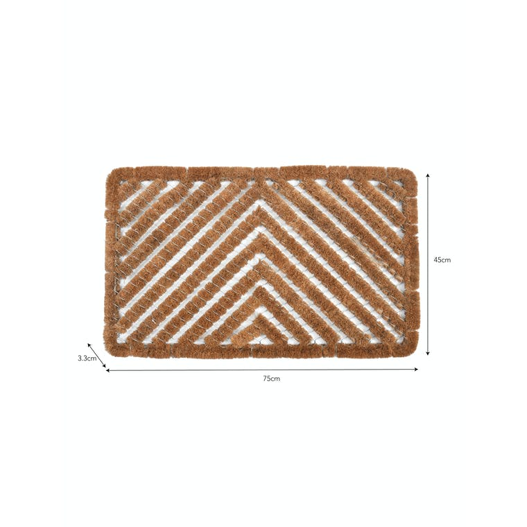 Coir and Galvanised Wire Scraper Doormat | Garden Trading