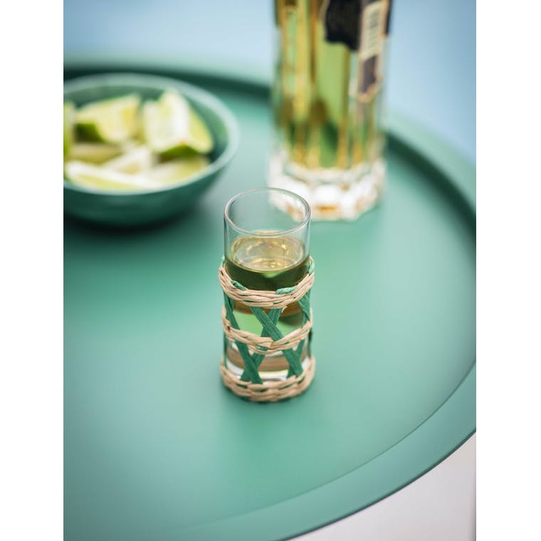 Garden Trading Portmore Pair of Shot Glasses in Foliage Green