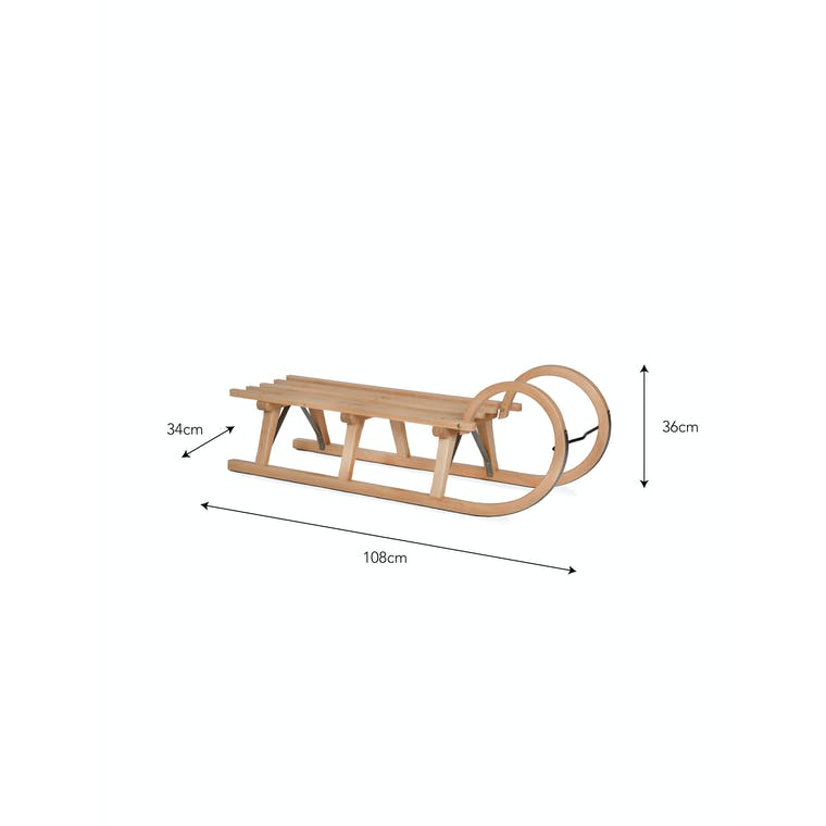 Wooden Snow Sledge | Garden Trading