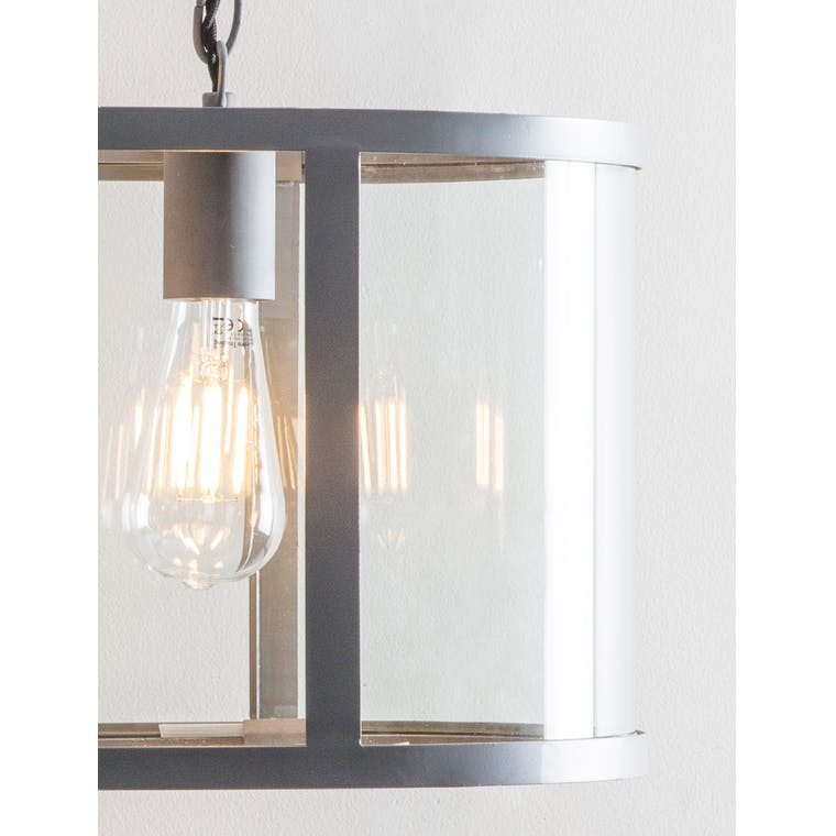 Replacement Glass for Cadogan 3 Pendant Light in Straight or Curved | Garden Trading
