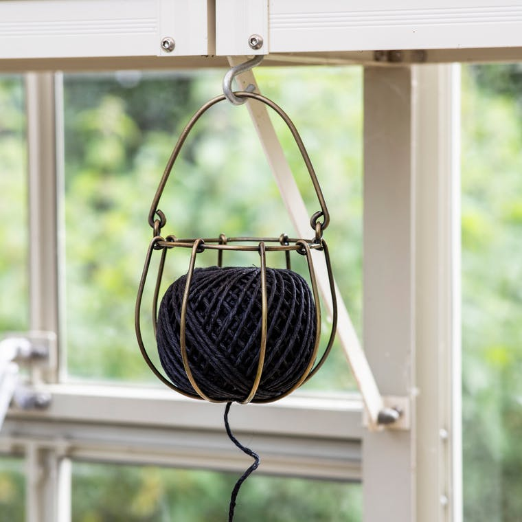 Wirework String Holder with Black String | Garden Trading