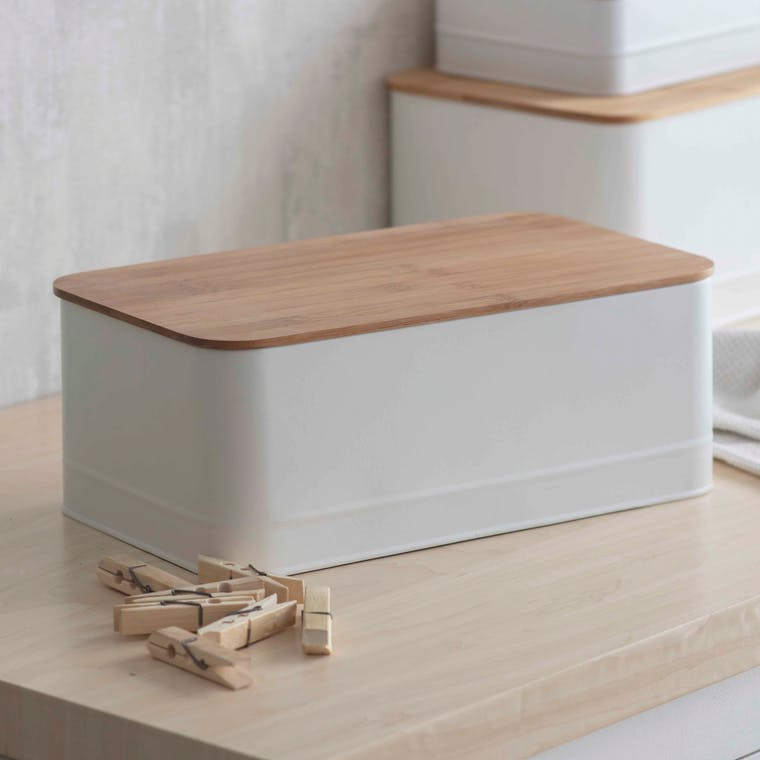 Portland Storage Hamper in White | Garden Trading