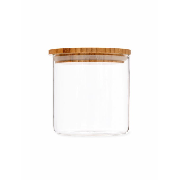 Glass & Bamboo Storage Jar in Small, Medium or Large | Garden Trading