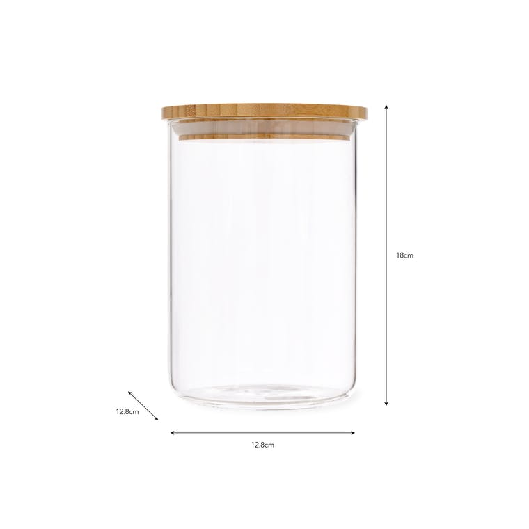 Glass Audley Storage Jar in 880ml, 1.3L and 1.8L   Garden Trading