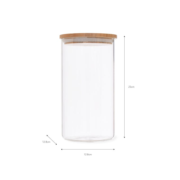Glass Audley Storage Jar in 880ml, 1.3L and 1.8L | Garden Trading