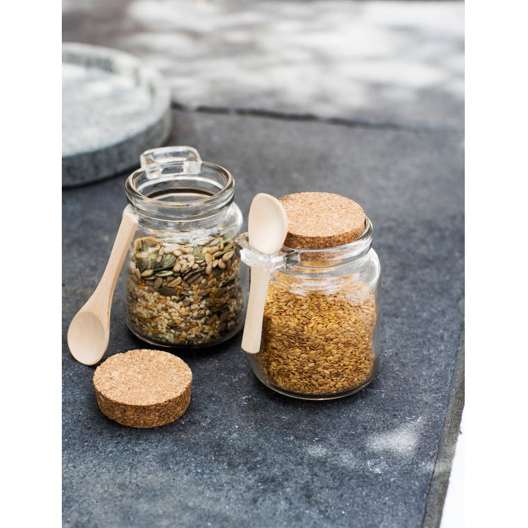 Set of 2 Sprinkle Glass Jars with Wooden Spoons | Garden Trading