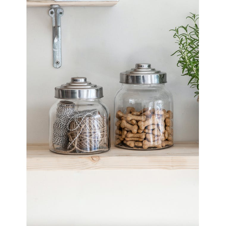 Glass Storage Jar with Screw Lid in Medium or Large | Garden Trading