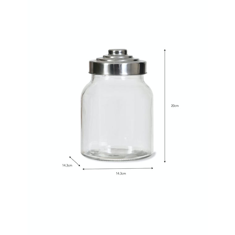 Glass Storage Jar with Screw Lid in Medium or Large   Garden Trading
