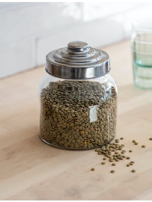 Round Storage Jar with Lid