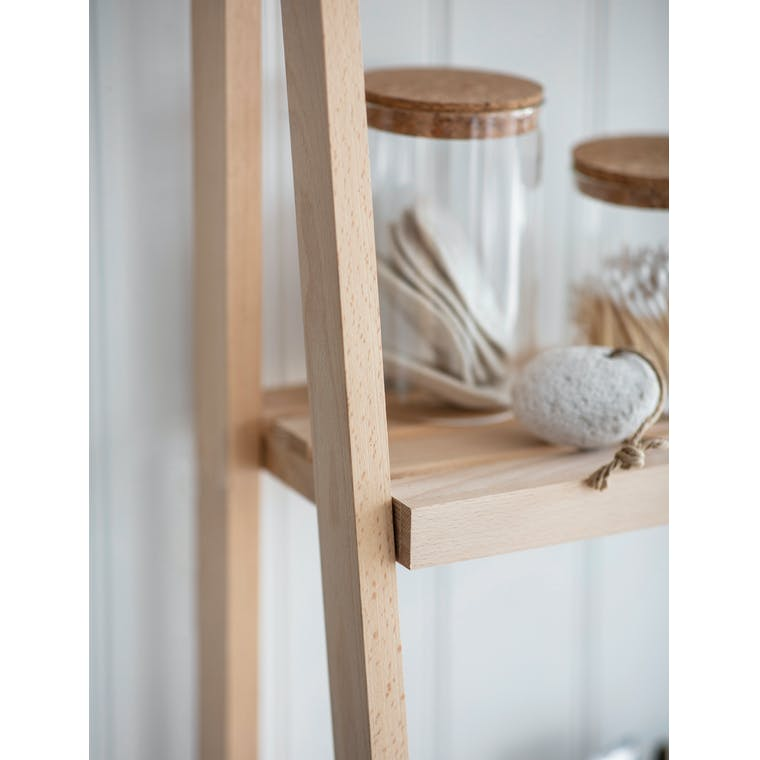 Ladder Shelf in Beech in Small or Large - Southbourne | Garden Trading