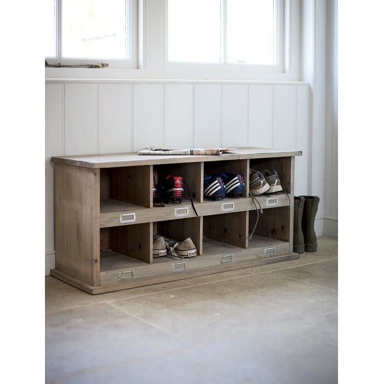 Wooden Chedworth Shoe Locker in Small, Medium or Large | Garden Trading