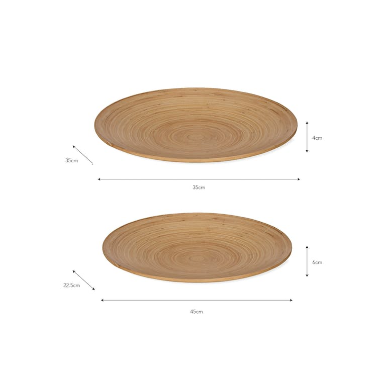 Bamboo Pair of Purbeck Plates | Garden Trading