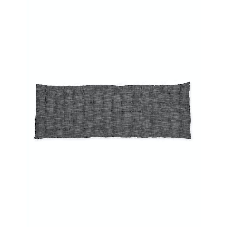 Cotton Aldsworth Seat Pad in Grey Stripe | Garden Trading