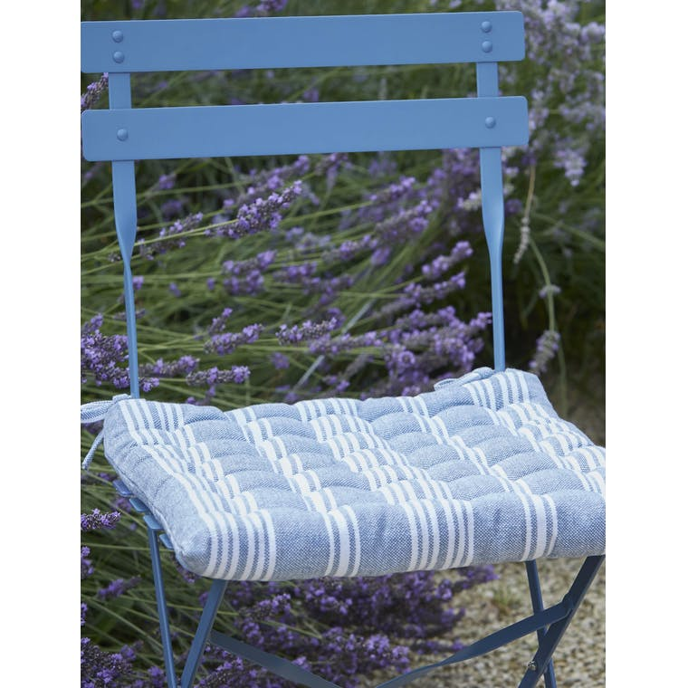 Garden Trading Seat Pad in Cornflower Blue - Cotton