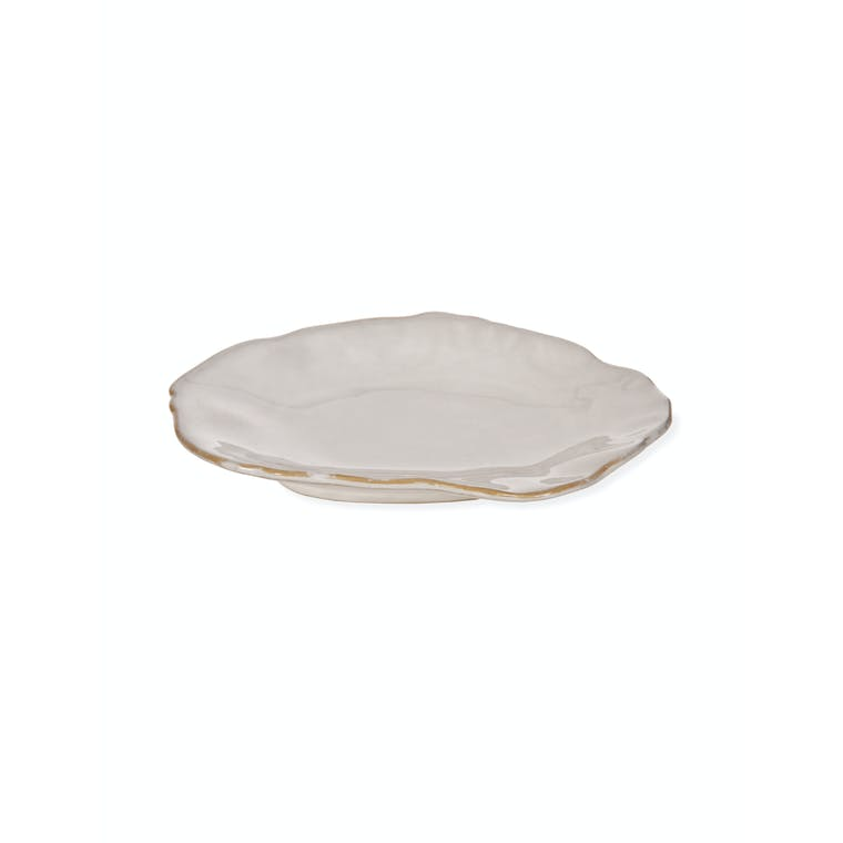Ceramic Ithaca Side Plate in White | Garden Trading