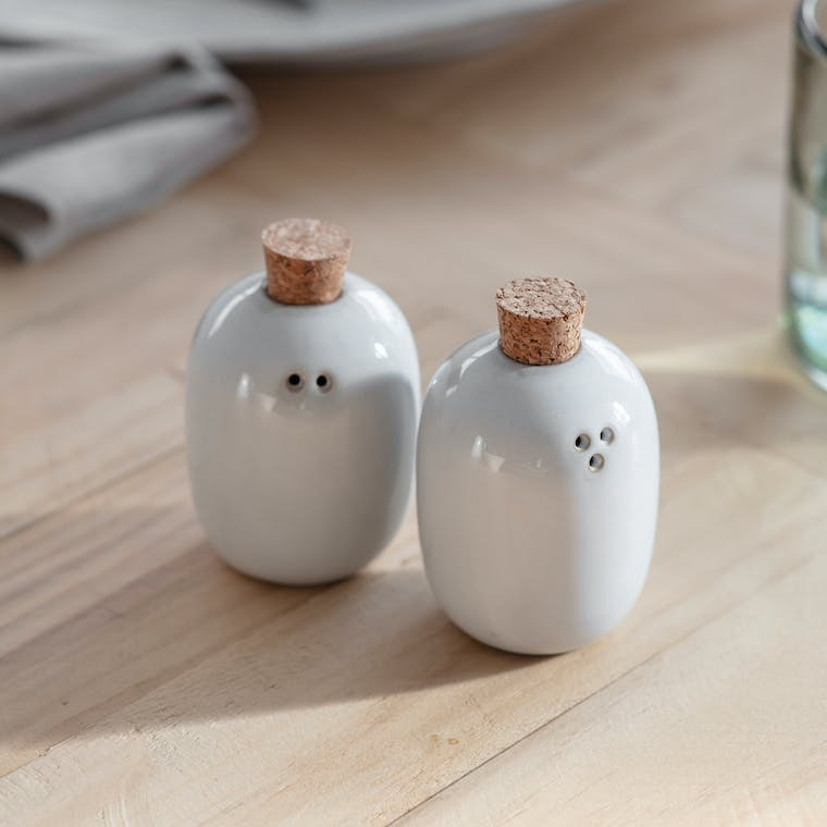 Ceramic Pair of Ithaca Salt and Pepper Shakers | Garden Trading