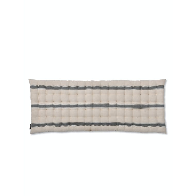 Cotton Aldsworth Welly Bench Seat Pad Grey Stripe | Garden Trading