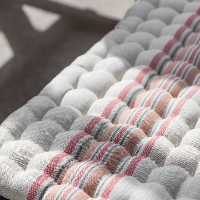 Cotton Orange Stripe Chilson Cushions in Small or Large | Garden Trading