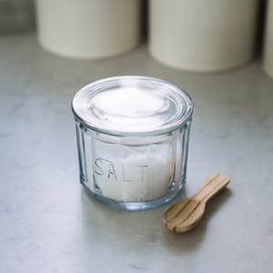 Glass Salt Pot