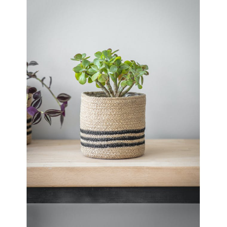Garden Trading Striped Woven Pot